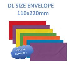 DL Coloured Envelopes For Greeting Cards Party Wedding Invitations & Crafts