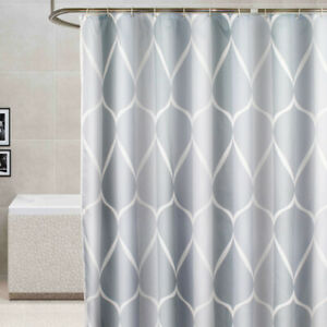 Details About Waterproof Bathroom Fabric Shower Curtain Extra Wide Long With Ring Decor