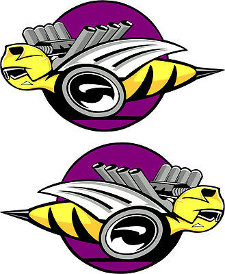 "Dodge Rumble Bee/'s Purple Large Decals Right /& Left 9/"" Each"