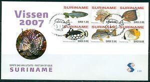 SURINAME-UITGAVE-2007-FDC-305-VISSEN-2007