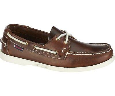 Sebago Docksides Moccasin Boat Deck Shoes Men/'s b72652 Brown//White New