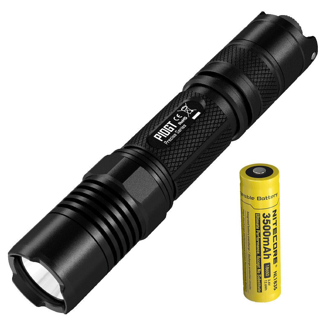 Nitecore P10GT 900 Lumen LED Strobe Ready Ready Ready Flashlight & 3500mAh 18650 Battery e8be2b