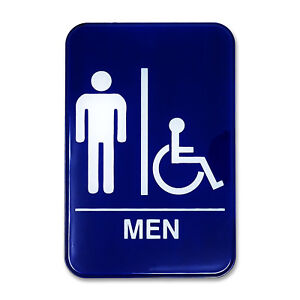 image is loading men 039 s amp handicap accessible restroom sign - Mens Bathroom Sign