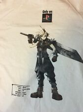rare FINAL FANTASY VII vintage 90's vtg XL promo T-SHIRT cloud playstation FF7