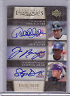 2006 Exquisite Endorsements Triple Auto Derek Jeter Jose Reyes Stephen Drew /15