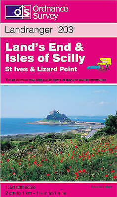 (Good)-Land's End and Isles of Scilly, St.Ives and Lizard Point (Landranger Maps