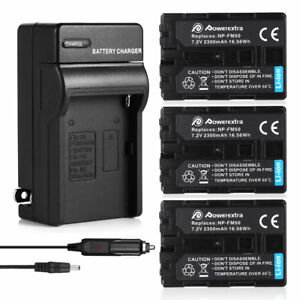 NP-FM50-Battery-w-Charger-For-Sony-DSC-S30-S85-F707-F717-DCR-TRV250-280-NP-FM30