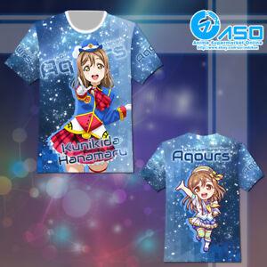 Anime-T-shirt-Love-Live-Sunshine-Kunikida-Hanamaru-Unisex-Short-Casual-Tee-Tops