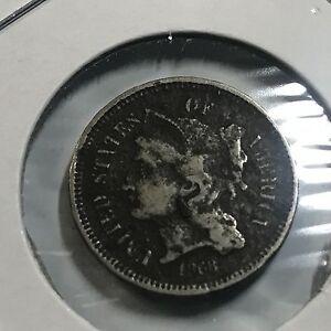 1868-THREE-CENT-NICKEL-BETTER-GRADE-COIN