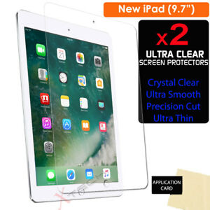 """2x CLEAR Screen Protector Guard Covers for New Apple iPad 9.7"""" (2018 / 2017) 5055782974198"""