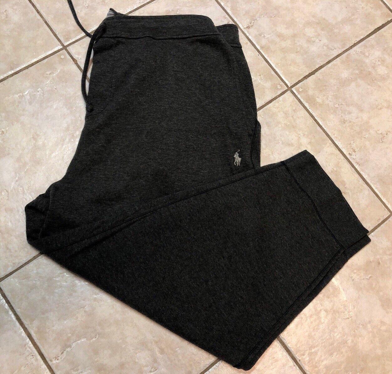 Polo Ralph Lauren Double Knit Sweat Pants Mens 3XB Grey Heather w Pony NWT