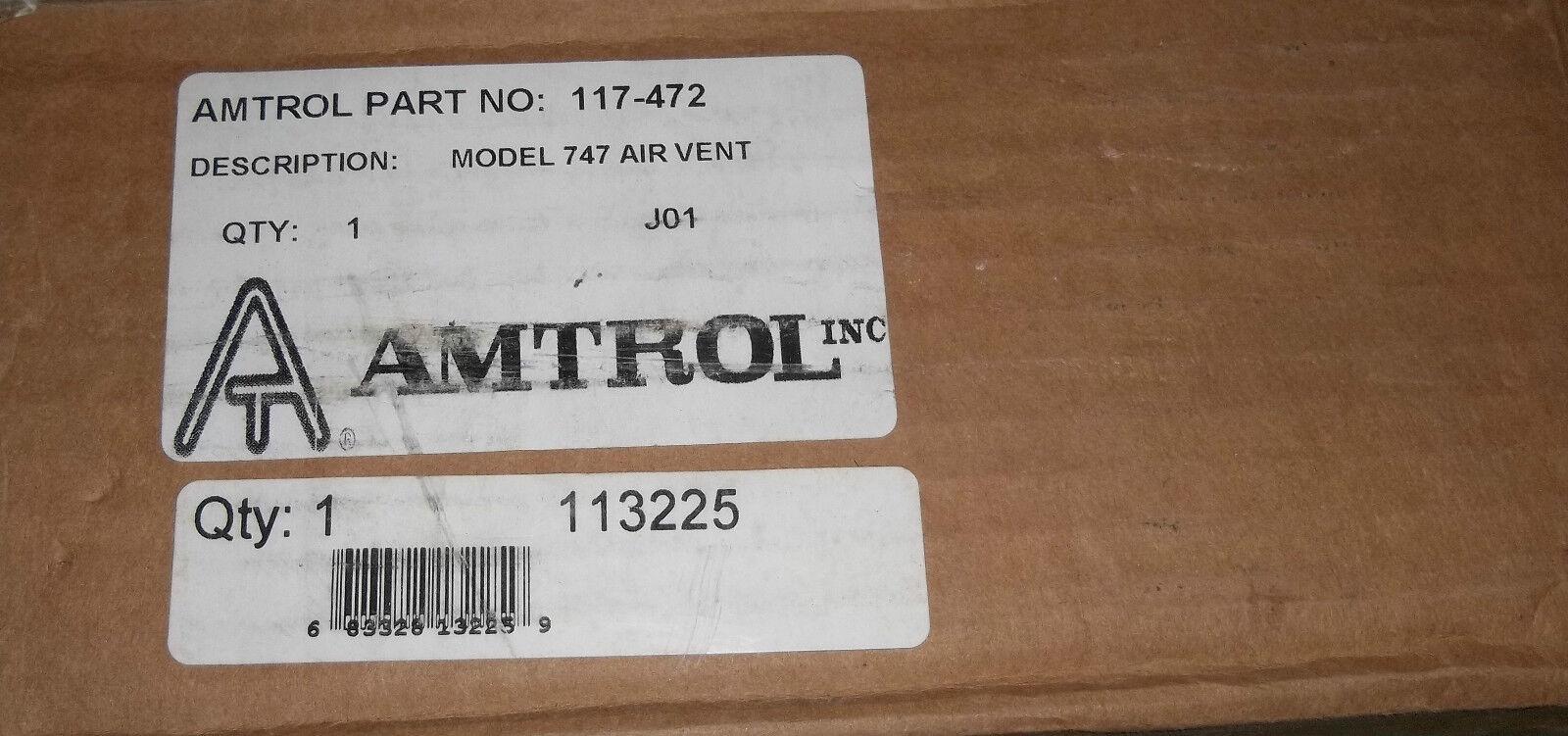 Amtrol de Nuevo ventilación de aire modelo 747 Nuevo de en Caja 117-472 4c5763