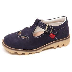 huge discount 0f6d2 43d03 Dettagli su E7268 sandalo bimbo blu KICKERS SAND scarpe shoe baby boy with  vintage effect