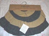 Dillards Tartan Blue Mini Tree Skirt 21 Christmas Holiday Classic Decoration