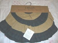 Dillards Tartan Blue Mini Tree Skirt 21 Christmas Holiday Classic Decoration
