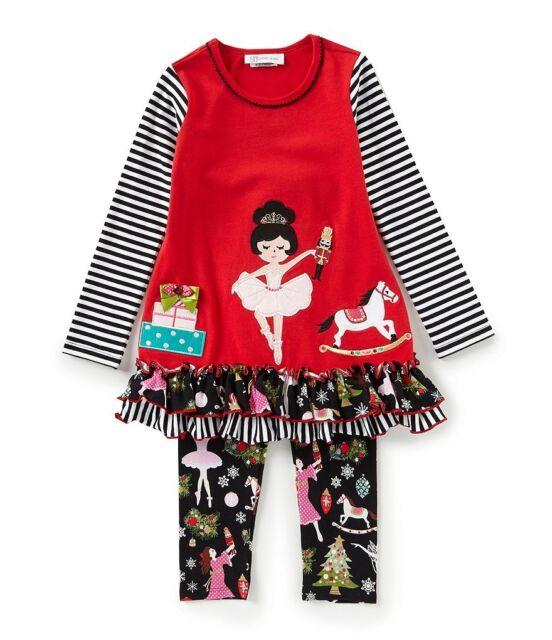 New Baby Girls Bonnie Jean Snowman Tunic Leggings Christmas Holiday Set 12 18 24
