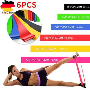 Fitnessbänder Sport Fitnessband Widerstandsband Gummiband Gymnastikband 6er-set