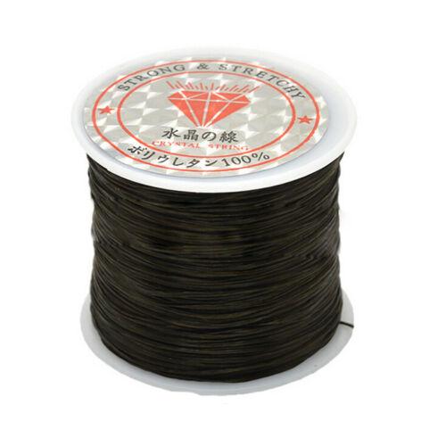 50M starkes elastisches Schnur Drahtseil Armband Halsketten Schnur Korn 0.5mm XJ