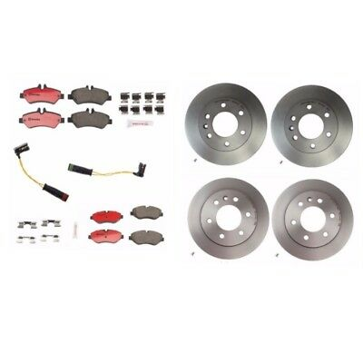Pair Set of 2 Front Coated Brake Disc Rotors Brembo for MB W906 Dodge Sprinter
