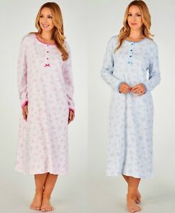 Image is loading Slenderella-Women-039-s-Nightdress-100-Jersey-Cotton- 149349cdd