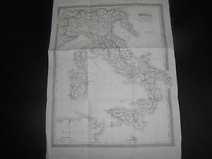 1860-CARTA-GEOGRAFICA-DELL-039-ITALIA-DAL-1270-AL-1450-FRATELLI-DOYEN