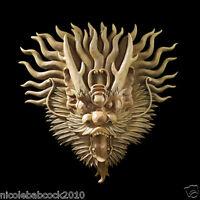 Tibetan Sculptural Dragon Wall Mask Oriental Dragon Sculpture Mystical Asian