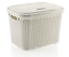 Large-20-Litre-Plastic-Rattan-Storage-Box-with-Lid-Stackable-Basket-Container thumbnail 4