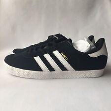 c63223ae239c adidas Originals Gazelle Men s Trainers Black Suede Sneakers S32247 Size 7