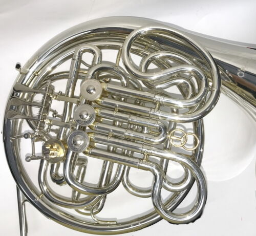 Silver plated Alexander style  double Bb//F French Horn advanced student// pro