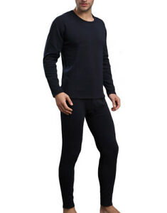 64334aabc03 Image is loading Mens-2pc-Microfiber-Thermal-Underwear-Set-Long-Johns-