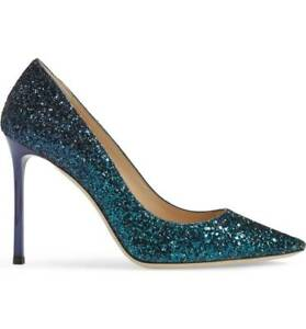 cheap prices clearance sale reasonable price Details about JIMMY CHOO ROMY GLITTER PEACOCK DEGRADE OMBRE PUMPS EU 39 40  100 MM I LOVE SHOES