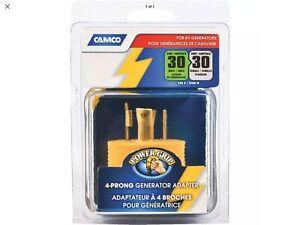 Camco Mfg Inc Rv 30a 4 Pr Pg Gen Adapter 55338 Unit Each Ebay