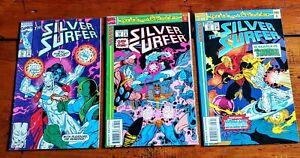 Vintage LOT of 3 SILVER SURFER Marvel Comics 1993 & 1994