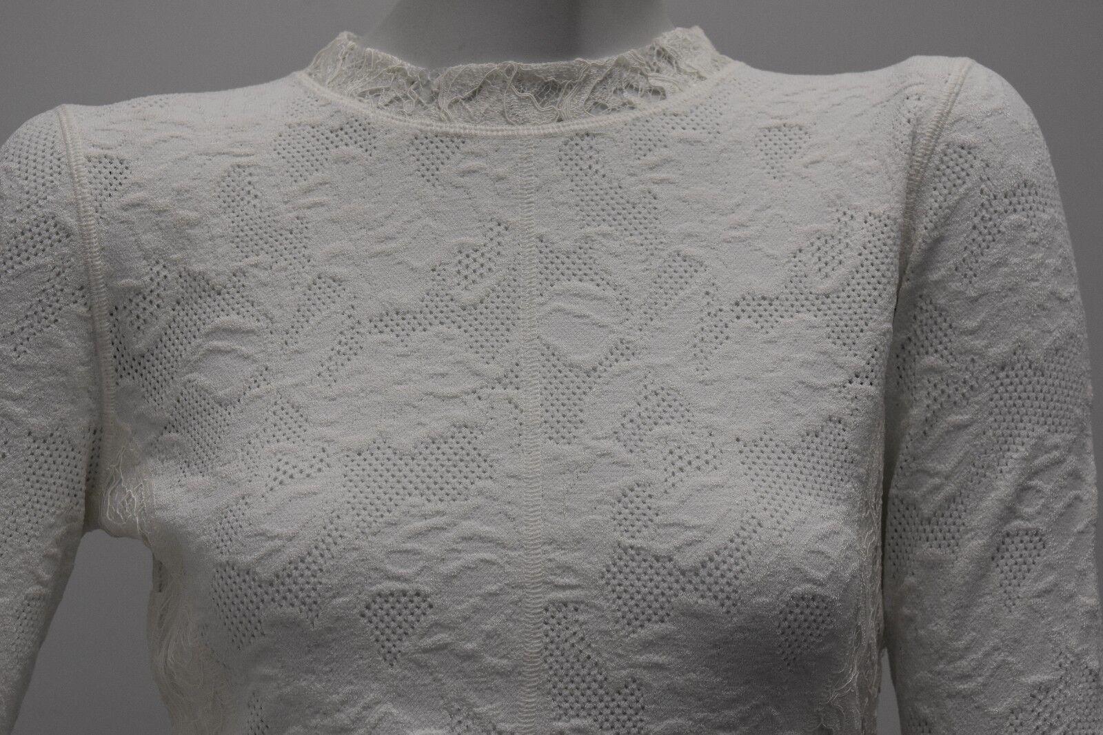 Nuevo La Renta Encaje sobre OsCoche de suéter de  punto elástico Top azulsa Floral blancoo L M  descuento online