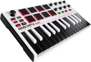 Akai-Professional-MPK-mini-MKII-MK2-Compact-Keyboard-and-Pad-Controller-White