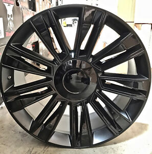 Image Is Loading 26 Cadillac 2017 Style Rims Satin Black Wheels