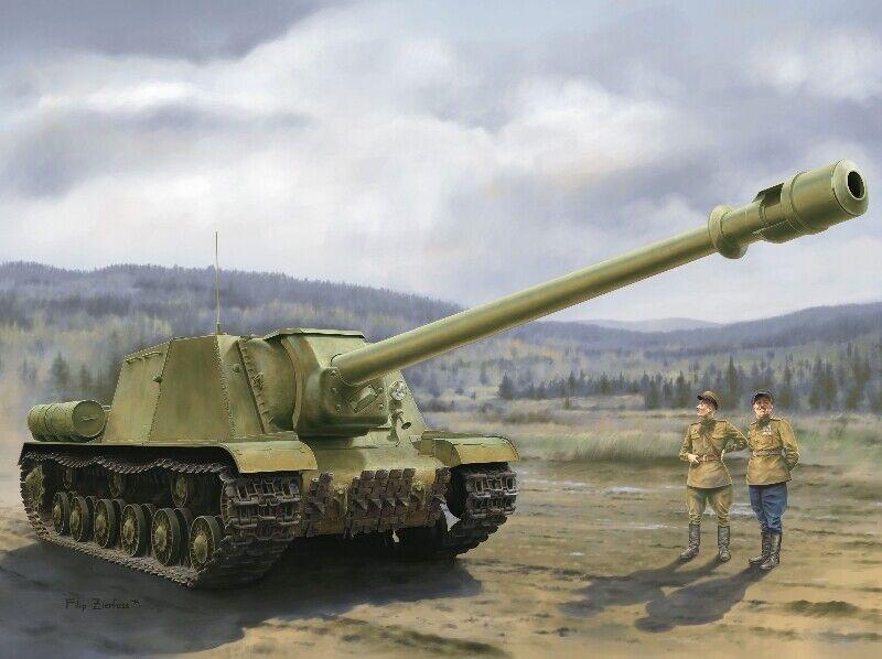 Isu1522 155 Mm Bl  10 Cannon Tank 1 35 Plastic modellolo Kit DRAGON modelloloS