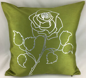 Lime-Green-With-Silver-Rose-Evans-Lichfield-Cushion-Cover