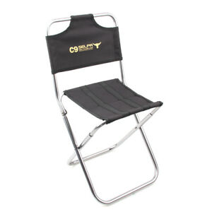 Image Is Loading Foldable Folding Chair Fishing Camping Hiking Garden Stool