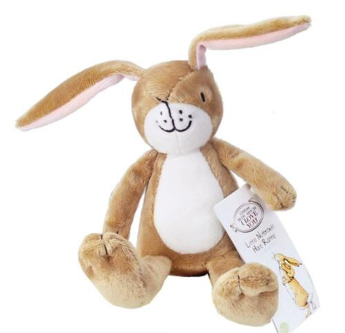 Personalised Gift Little Nutbrown Hare Rattle Guess How Much I Love You Taggie