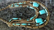 NWT SILPADA *TOES IN THE SAND* TURQUOISE & BRASS MULTI-LAYER NECKLACE KRN0044
