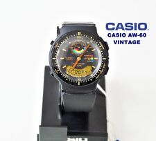 VINTAGE CASIO AW-60 ÜBUNG-TRAINER QW.730 JAPAN MOV. SCHWARZ ZIFFERBLATT