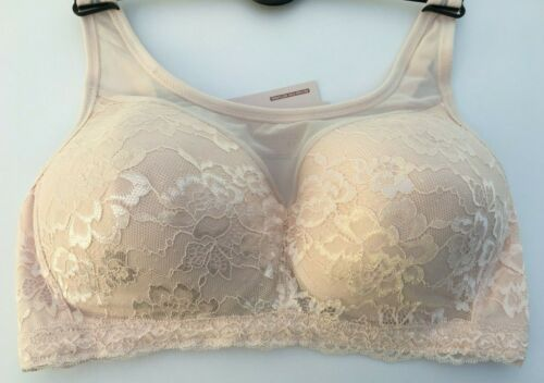 Pink Marks /& Spencer Post Surgery Non Wired Cami Lace Bra  36DD 38A 38B 38C 40A