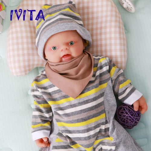Xmas Gift 18/'/' Reborn Dolls Baby Boys Full Body Soft Silicone Toy Newborn Infant