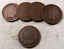 5 1900/'s Mixed Indian Head Penny Lot //// Good or Better