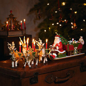 VILLEROY-amp-BOCH-Christmas-Toys-Memory-Santa-039-s-Schlittenfahrt-Dekofigur-XMAS-70cm