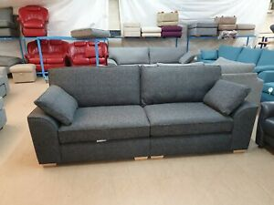 Next-Stamford-charcoal-Boucle-Weave-Fabric-4-Seater-Sofa