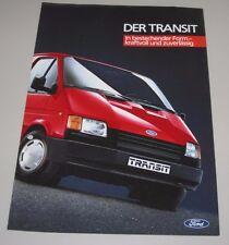 Auto Prospekt Katalog Ford Transit Stand Mai 1986!