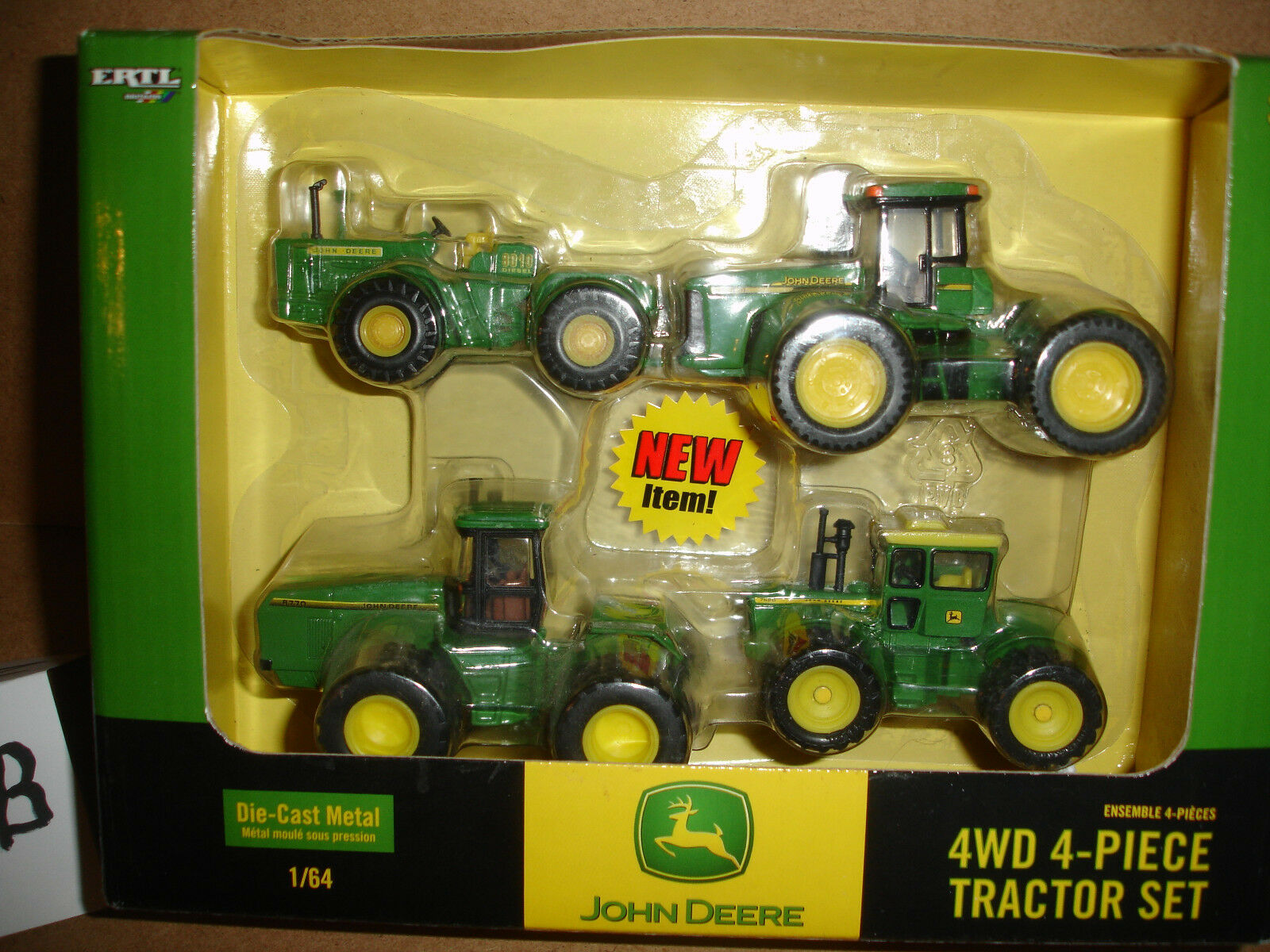 1 64 John Deere 4WD 4-piece Tractor Set