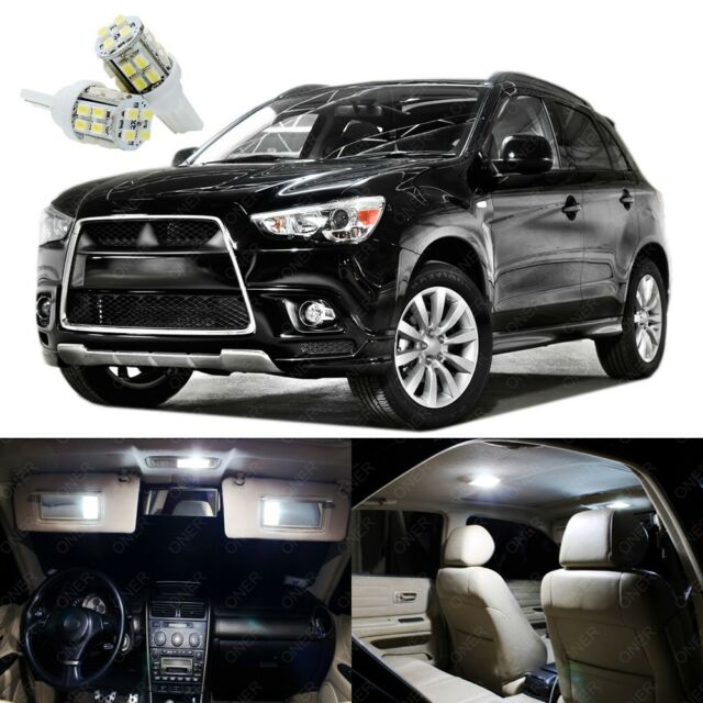 Amazing 10 X Xenon White LED Lights Package For Mitsubishi Outlander Sport 2011    2017